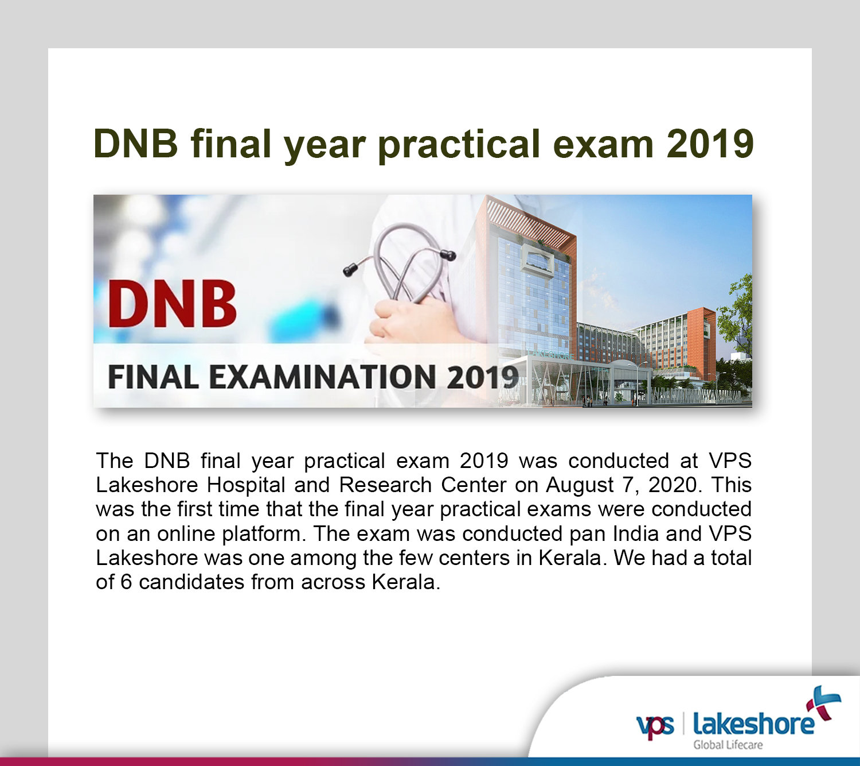 DNB final year practical exam 2019