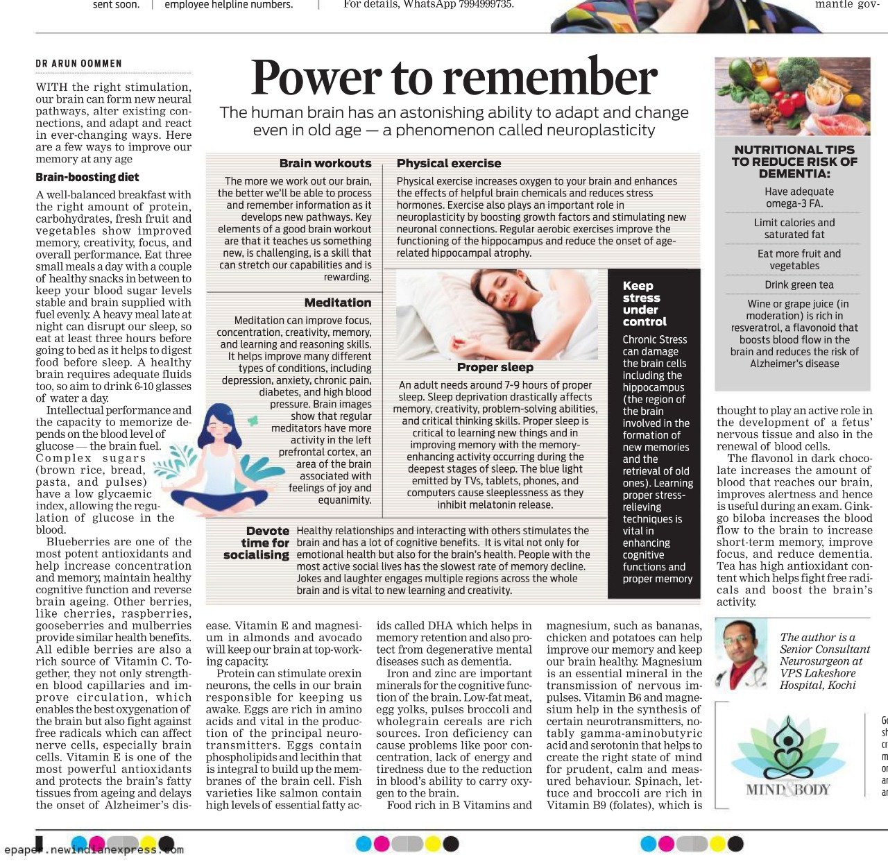 FOLLOW HEALTHY LIFESTYLE AND IMPROVE YOUR MEMORY POWER